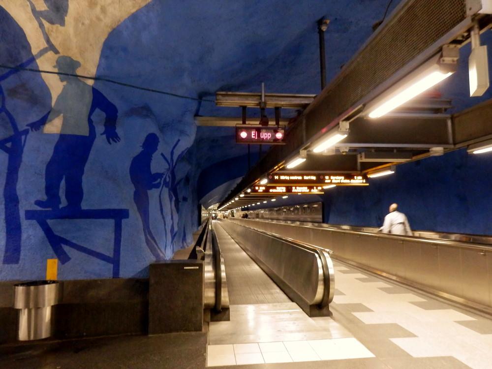北欧旅行スウェーデン・ストックホルム地下鉄_1
