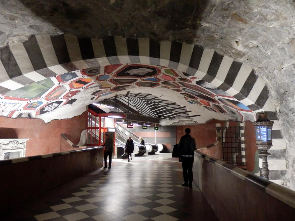北欧旅行スウェーデン・ストックホルム地下鉄_15