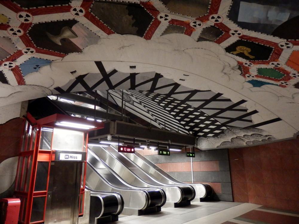 北欧旅行スウェーデン・ストックホルム地下鉄_16