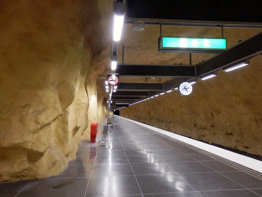 北欧旅行スウェーデン・ストックホルム地下鉄_19