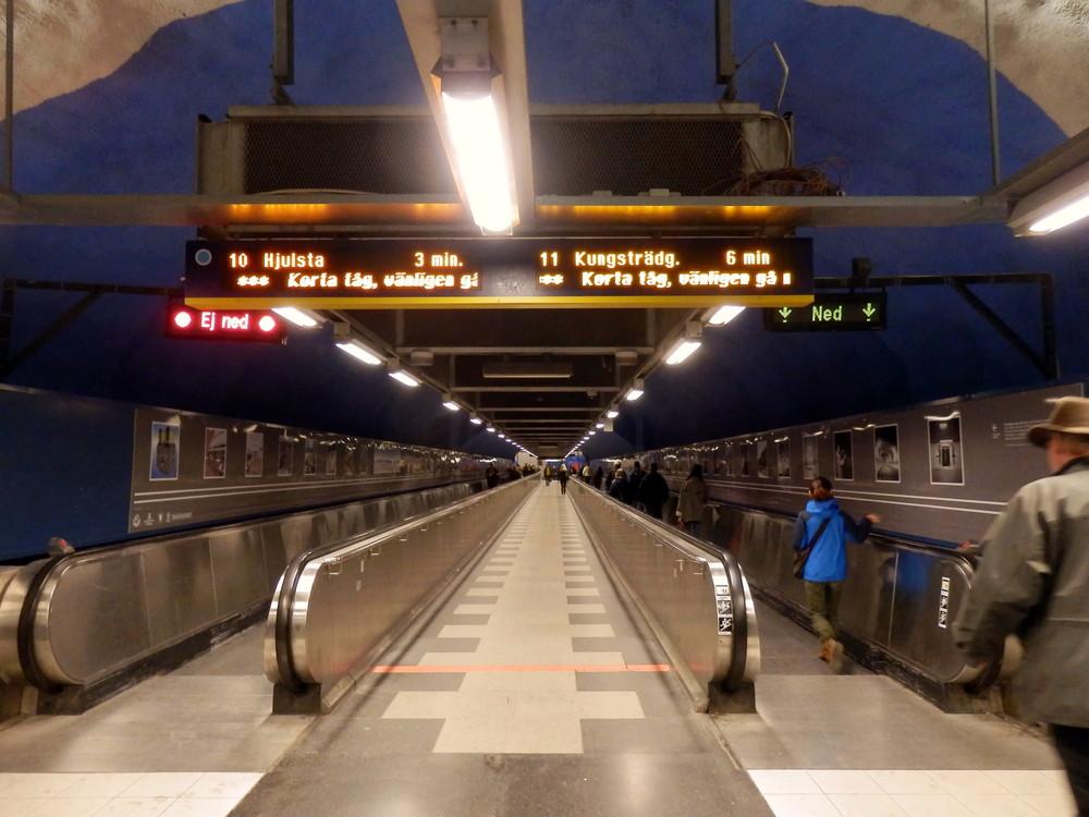 北欧旅行スウェーデン・ストックホルム地下鉄_2