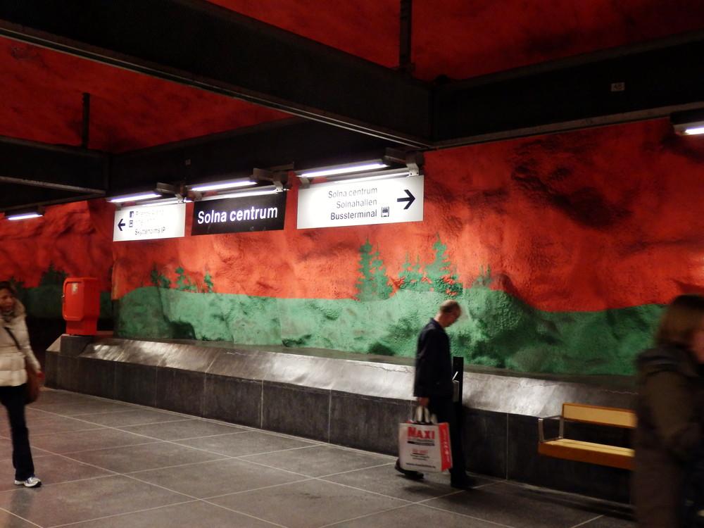 北欧旅行スウェーデン・ストックホルム地下鉄_23