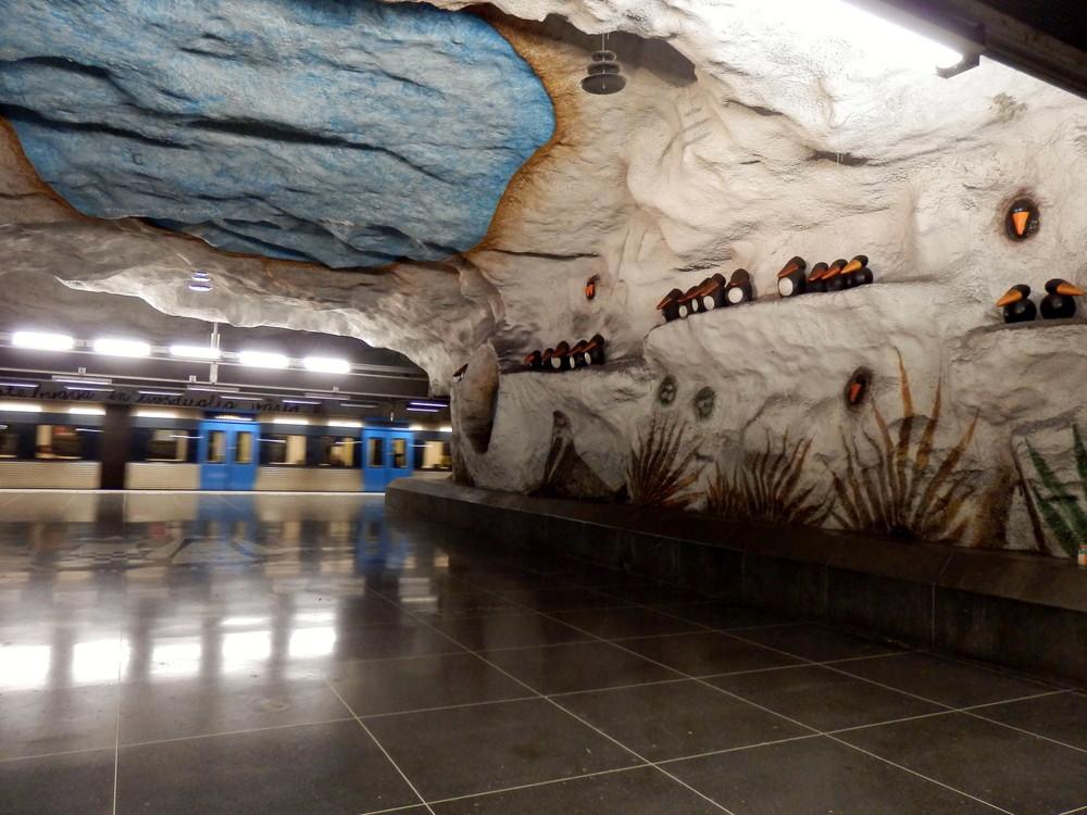 北欧旅行スウェーデン・ストックホルム地下鉄_29