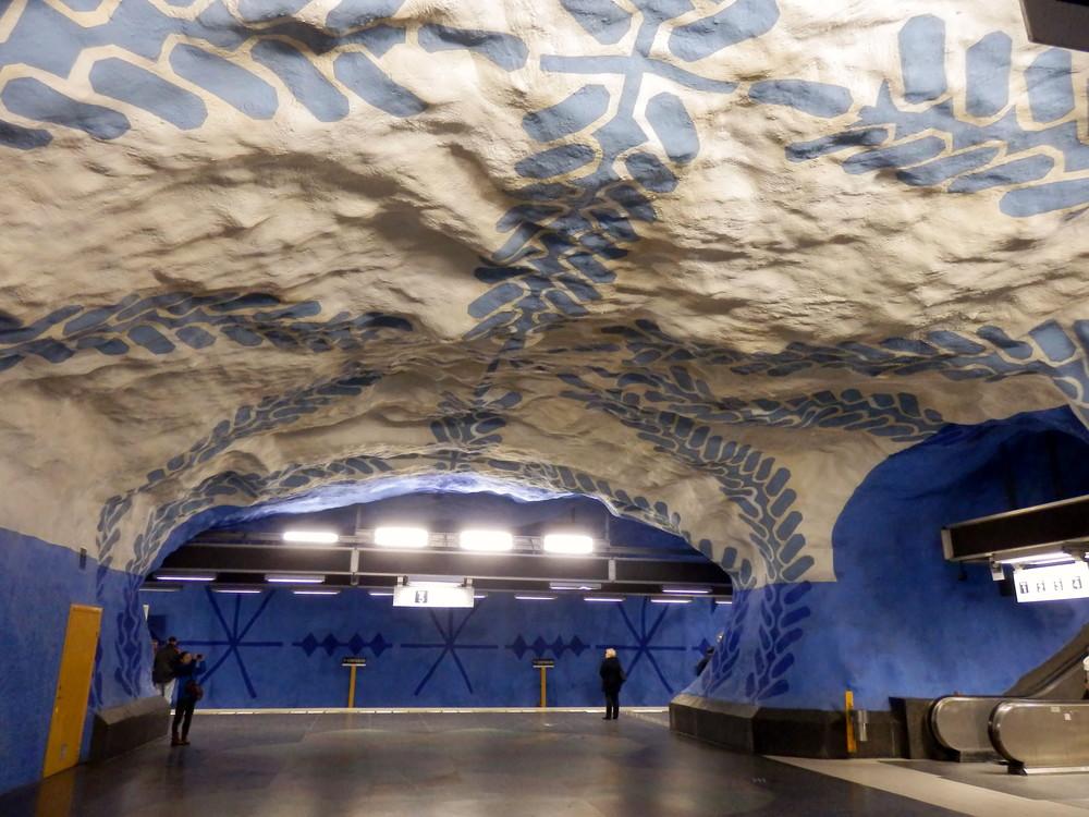 北欧旅行スウェーデン・ストックホルム地下鉄_5
