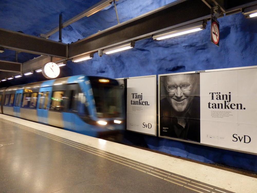 北欧旅行スウェーデン・ストックホルム地下鉄_6
