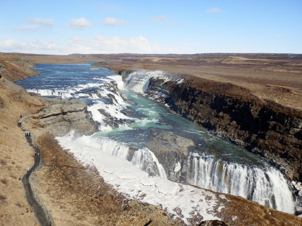 北欧旅行アイスランド・ゴールデンサークル_グトルフォス__24