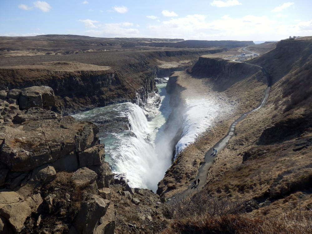 北欧旅行アイスランド・ゴールデンサークル_グトルフォス__30